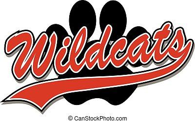 인쇄, wildcats, 발