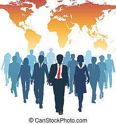 일, 실업가, 세계, 인간, 팀, 자원