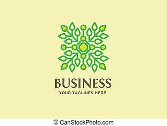 잎, 기술, 녹색, 로고