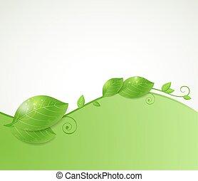 잎, 녹색의 배경