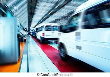 자동차, 선, 생산