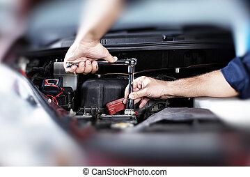 자동차, repair.