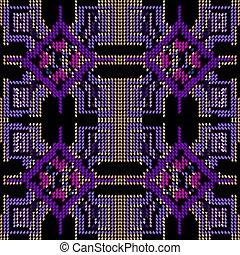 자수, 소수 민족의 사람, 벡터, halftone, 스타일, 현대, 배경막., seamless, 사냥개, pattern., 이, 꾸밈이다, 끝이 없는, 직물, 태피스트리, 반복, 나뭇결이다, 배경., grunge, ornament., 기하학이다, design., 종족의