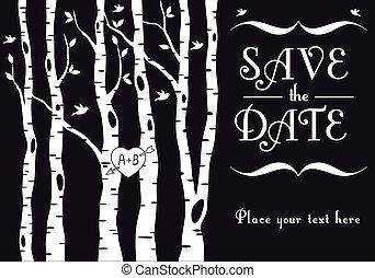 자작나무, 초대, 결혼식, 나무