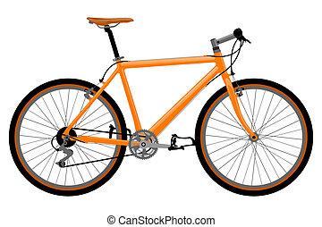 자전거, illustration.