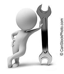 작다, people-wrench, 3차원