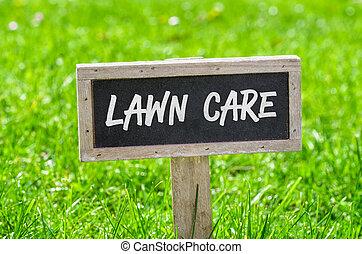 잔디, -, 걱정, 표시, 녹색