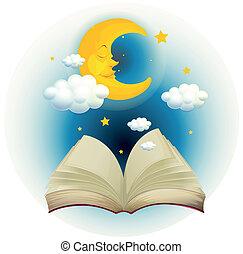 잠, 책, 달, 빈 광주리, 열려라