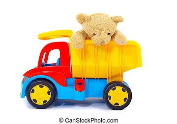 장난감, 곰, 트럭