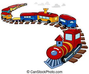 장난감 기차, 배경