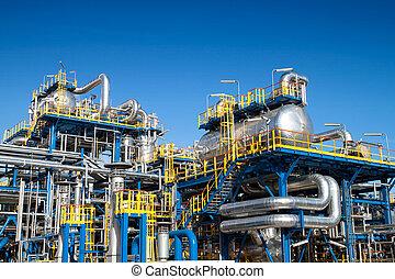 장비, 산업, 기름, 설치