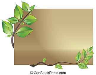 장식식의, 잎, 카드