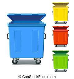 재활용, 다채로운, 큰 상자