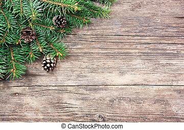 전나무, 멍청한, 나무, 크리스마스, 배경