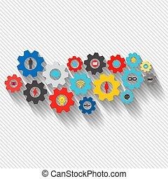 전략, 벡터, 마케팅, 비즈니스 아이콘, analytics, 떼어내다, 서비스, 나누다, 우주기계론, 연구, infographic, 접속된다, 삽화, 배경, 디지털, seo, concepts., concept., 은 설치한다