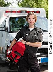 전문가, 단위, 여자, ems, 산소