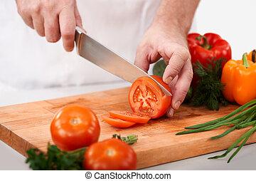 절단, 토마토