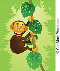 정글, 침팬지, 만화