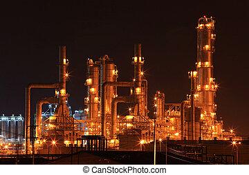 정련소, 기름, 공장