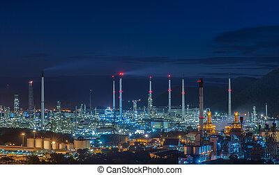 정련소, 산업, 기름, 식물