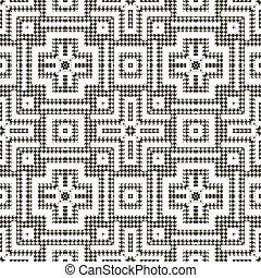 정방형, 사냥개, 꾸밈이다, 나뭇결이다, 이, 직물, 검정, pattern., houndstooth, 화려한, 벡터, 백색, seamless, shapes., 반복, 기하학이다, 스트라이프, 현대, 배경., ornaments., 디자인, 은 교차한다