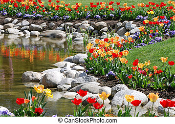 정원사 노릇을 함, 꽃