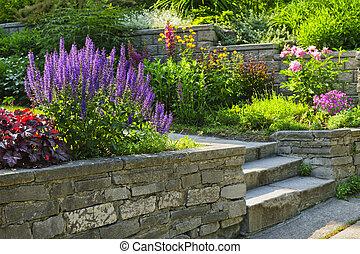 정원사 노릇을 함, 돌 정원