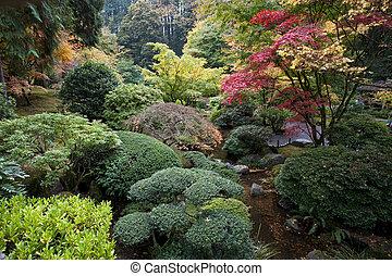 정원, 포틀랜드, 일본어, 오레곤