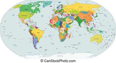 정치에 참여하는, 세계, 지도, 세계