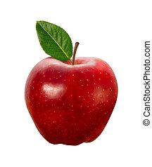 좁은 길, 가위로 자름, 애플, 빨강, 고립된
