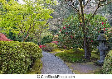 좁은 길, 정원 일본어