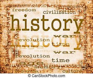 종이, 개념, 늙은, 역사