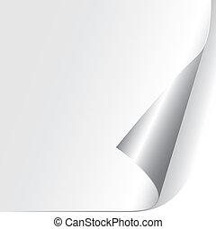 종이, 곱슬곱슬하게 하게 된다, 구석, (vector)