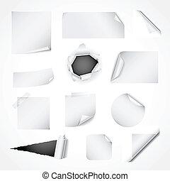 종이, 백색, 무대 디자인, 성분