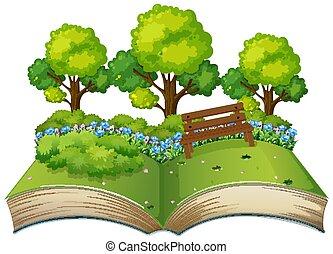 주제, 책, 열려라, 고립된, 자연