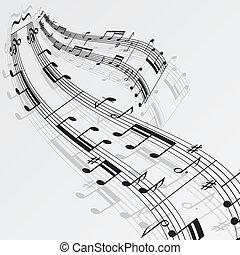 주, 음악, 배경, 파도