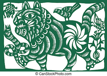 중국어, tiger, 황도대