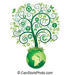 지구, 나무, 녹색
