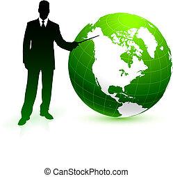 지구, 녹색의 비즈니스, 배경