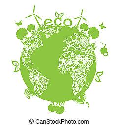 지구, 녹색, 날씬한