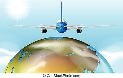 지구, 비행기, 넘어서의비행