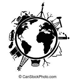 지구, 쓰레기, 오염