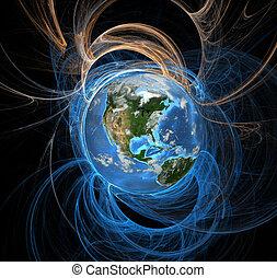지구, 에너지, 은 수비를 맡는다, 서쪽