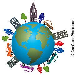 지구, 인생, 개념, 우리