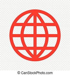 지구 지구, 벡터, 삽화, 아이콘