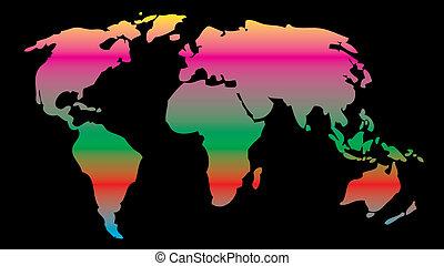 지구 지구, 벡터, 예술, 지도
