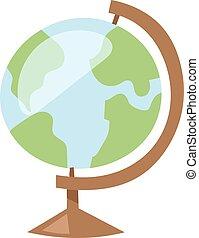 지구 지구, 벡터, illustration., 아이콘