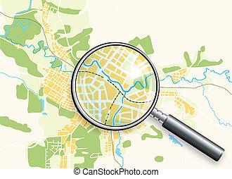 지도, 루페, 도시