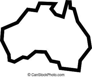 지도, 모양, 호주, 지리학