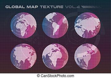 지도, 지구, 직물, 벡터, 지구, 세계